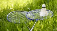 jeu de badminton dans un jardin
