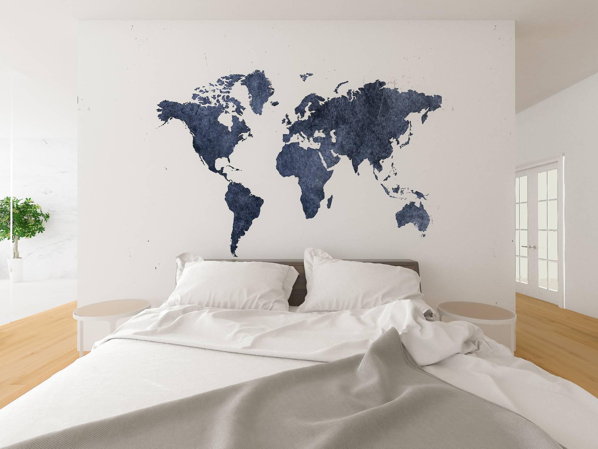 décoration voyage carte poster carte du monde